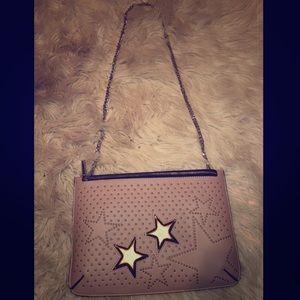 Topshop Dusty Pink Star Studded Shoulder Bag